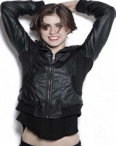 Alexandra Daddario Leather Jacket