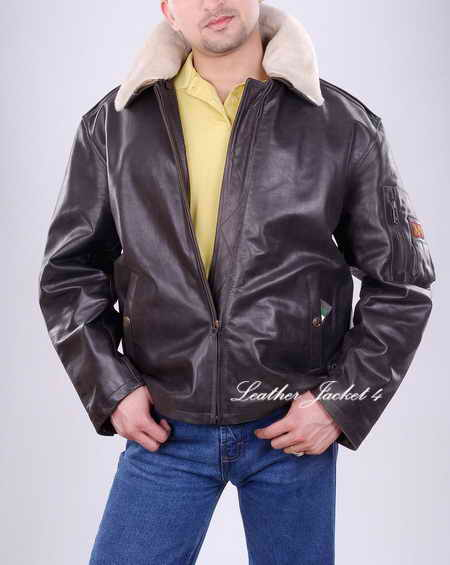 Alpha Flight Leather Jacket