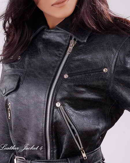 Crunch Affects Biker Leather Jacket