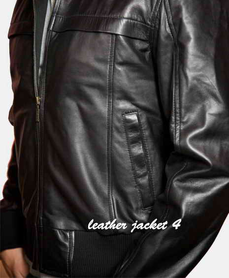 Mens Hooded Leather Jacket. Its a smart casual jacket