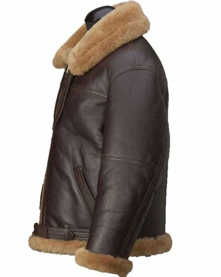 Aquaman Arthur Curry Fur Brown Distressed Leather jacket