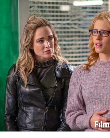 Arrow Season 8 Caity Lotz Leather Jacket