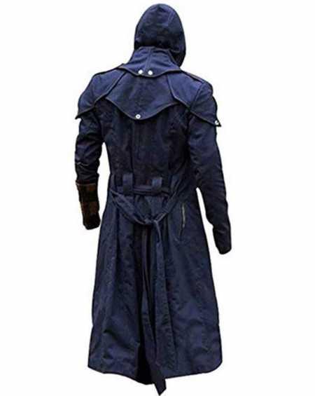 Assassin's Creed Unity Arno Blue Trench Coat