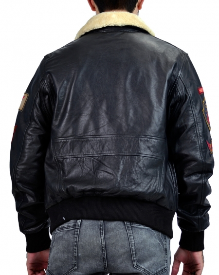 B3 patched pilot bomber jacket