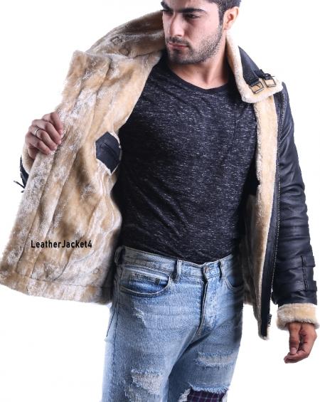 B3 Royal Air Force Hoodie Leather Jacket