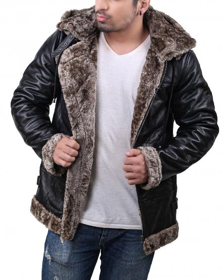 B3 Sable Faux Fur Shearling Hoodie Jacket