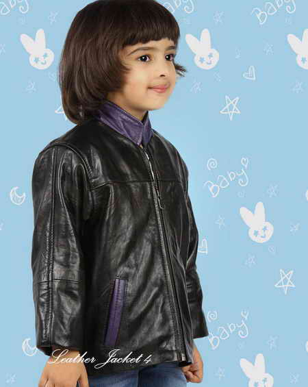 Baby Jacket in Black Leather