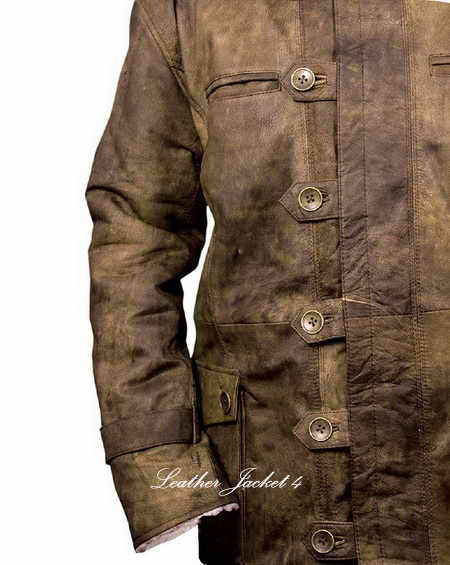 The Dark Knight Rises Bane Real Leather Coat