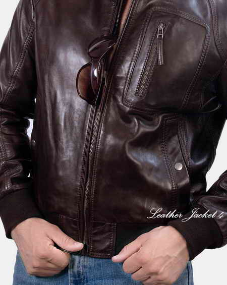 Tumbled Leather Moto Jacket