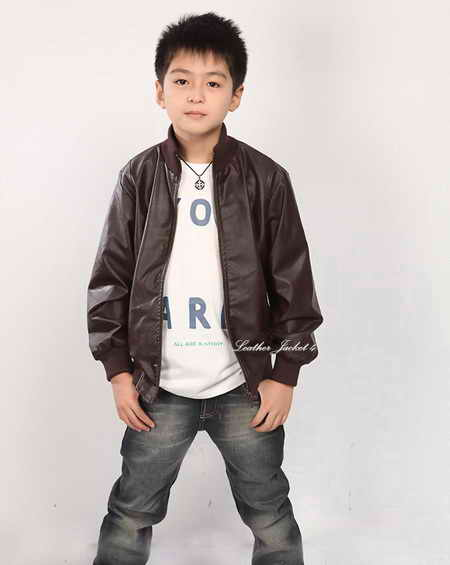Boy kids leather jacket