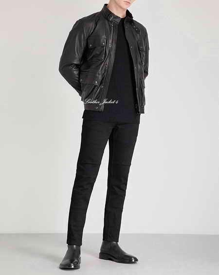 Replica of Brad Leather Jacket in Black