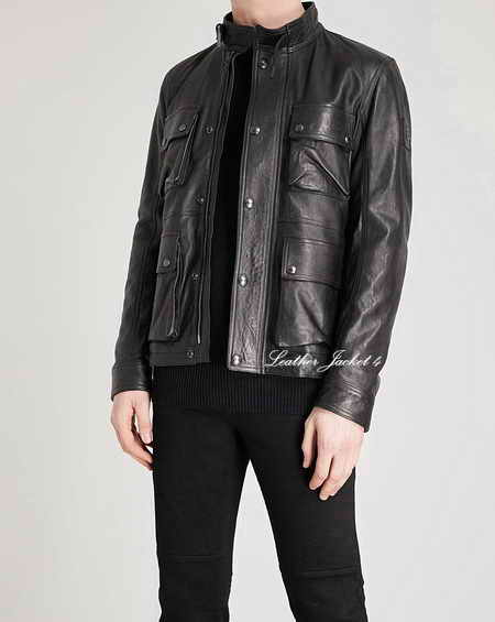 Replica of Brad Leather Jacket in Black