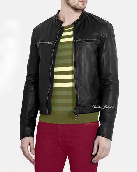 Black Soft Leather overdyed Mens Leather Jacket