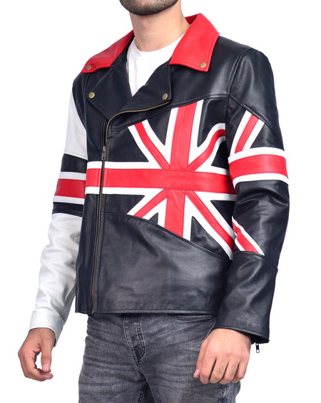 Union Jacket British Biker Leather Jacket