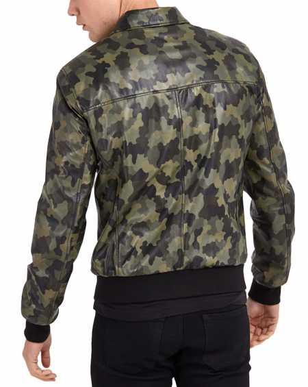 Mens Camouflage Bomber Jacket