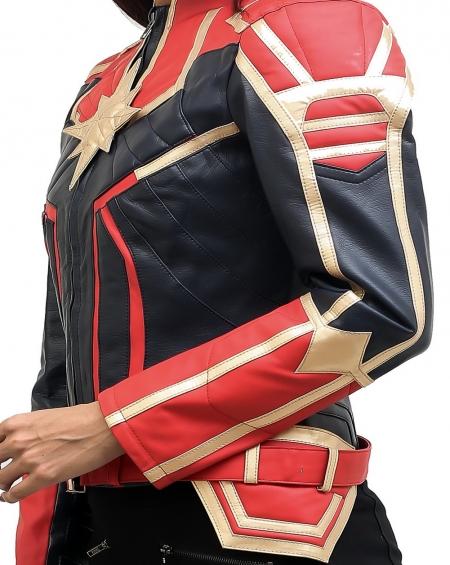 Her Universe Marvel Captain Marvel Star Girls Sheep Leather Jacket