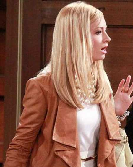 Caroline Channing 2 Broke Girls Brown Leather Jacket