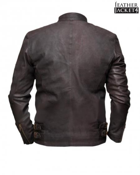 Civil War Steve Rogers Brown Leather Jacket