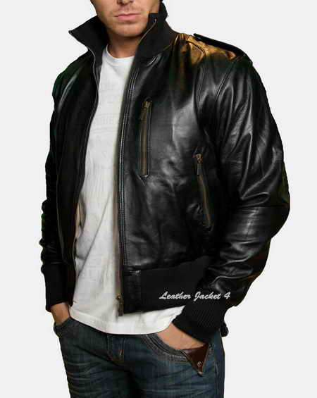 Latest Vogue of men leather Jackets for young peoples
