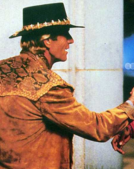 Crocodile Dundee Paul Hogan Leather Jacket