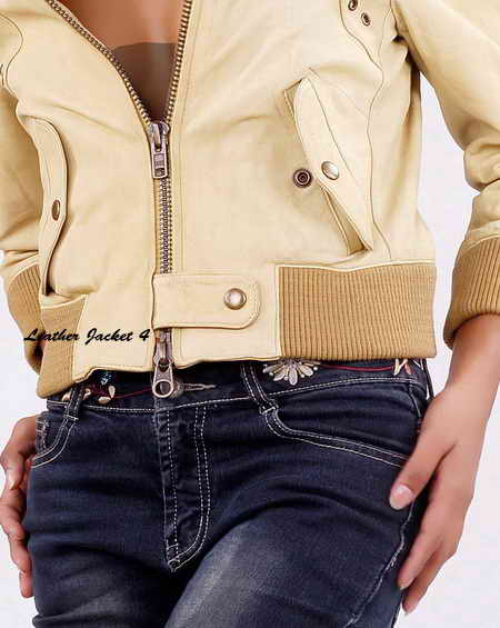 Womens Crop Top Leather Jacket