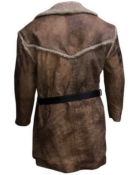 Hell On Wheels Shearling Leather Winter Coat