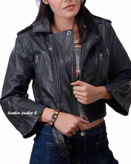 Women Goatskin Leather Jacket