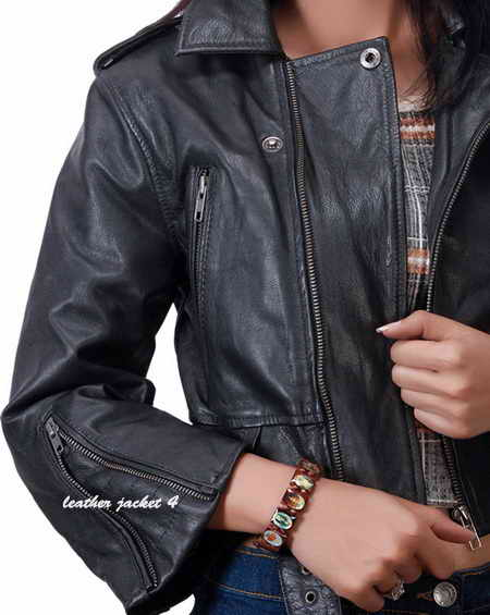 Women Goatskin Leather Jacket