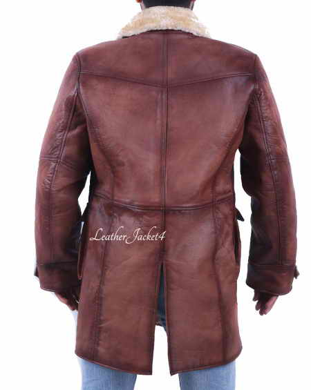 Tom Hardy Bane Coat Dark Knight Rises Brown Leather Trench C