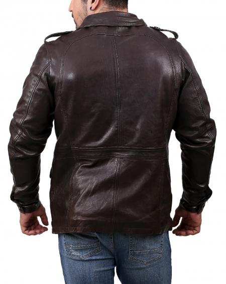 Datona Mens Brown Leather Jacket