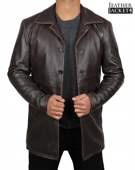 Dean Winchester Supernatural Winter Real Leather Coat