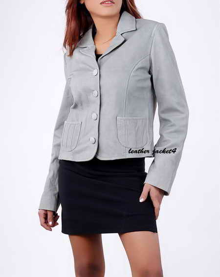 Leather Blazer Ladies