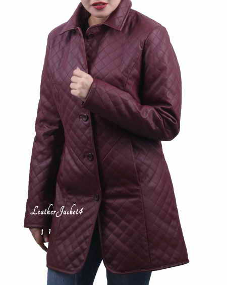 Diamond quilting coat