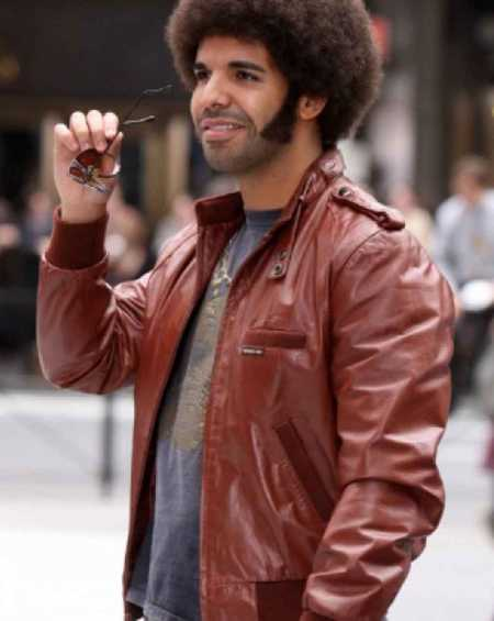 Drake Anchorman 2 The Legend Continues Aubrey Graham Leather Jacket