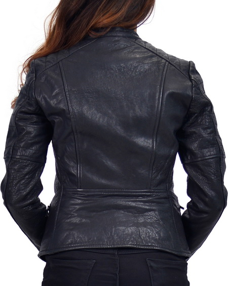 Dusty Womens Biker Jacket Dyed Lamb Leather