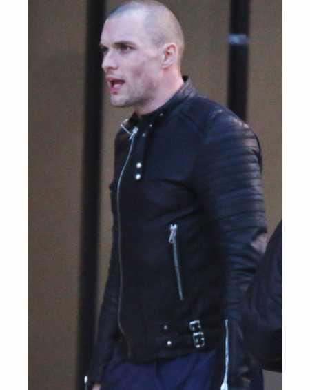 Ajax Deadpool Ed Skrein Leather Jacket
