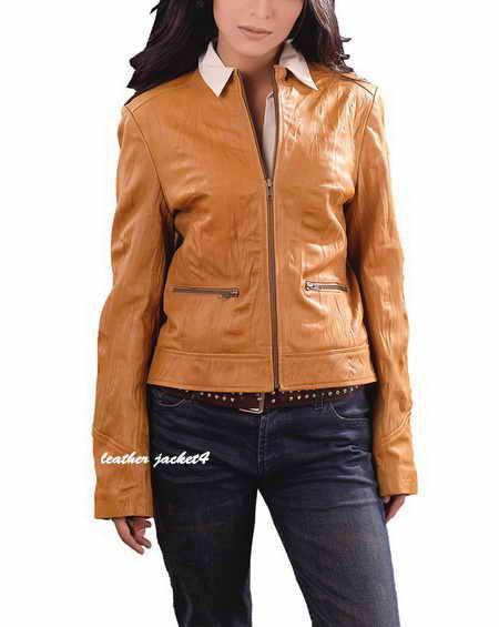 Women Washed Leather Jacket