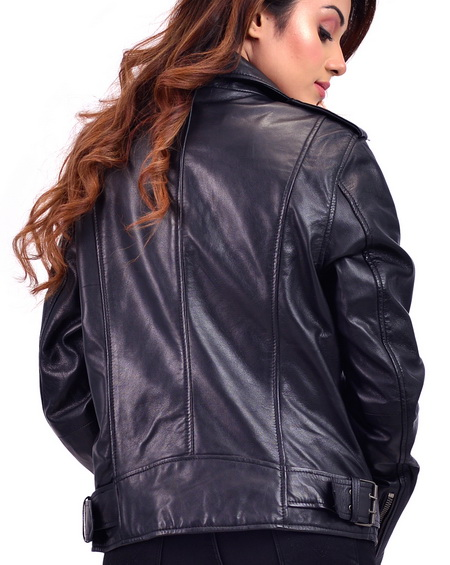 Femme Noir Leather Jacket Biker For Women