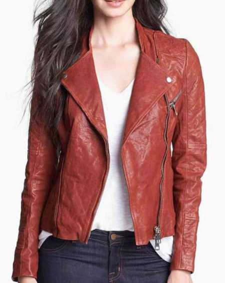 Fifty Shades of Grey Anastasia Steele Brown Leather Jacket