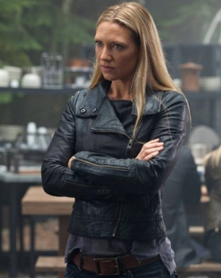 Anna Torv Fringe Olivia Dunham Real Leather Jacket
