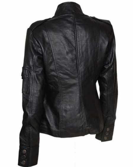 Get Smart Agent 99 Anne Hathaway Black Leather Jacket