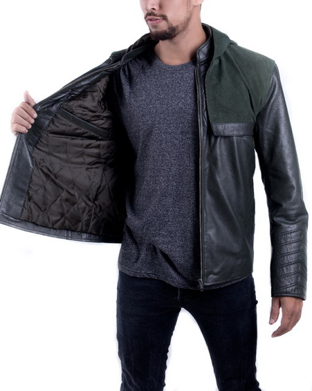 Stephen Amell Green Hooded Jacket