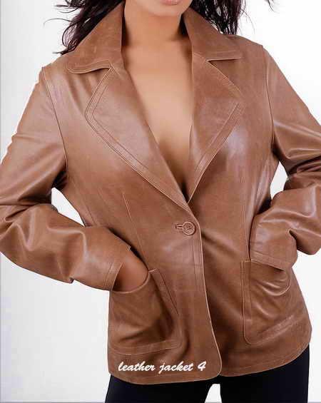 Classic Feminine Leather Blazer
