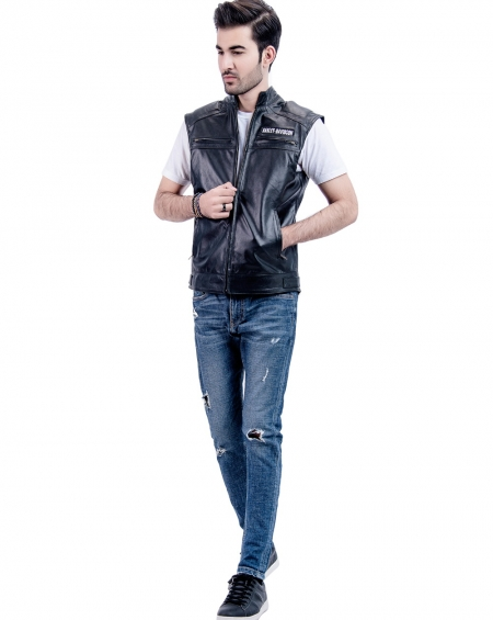 Harley Davidson Leather Vest Replica
