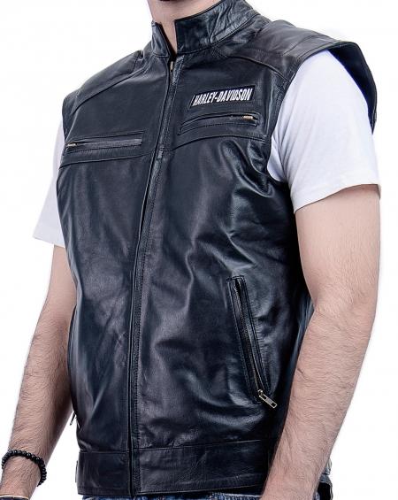 Harley Davidson Leather Vest Replica