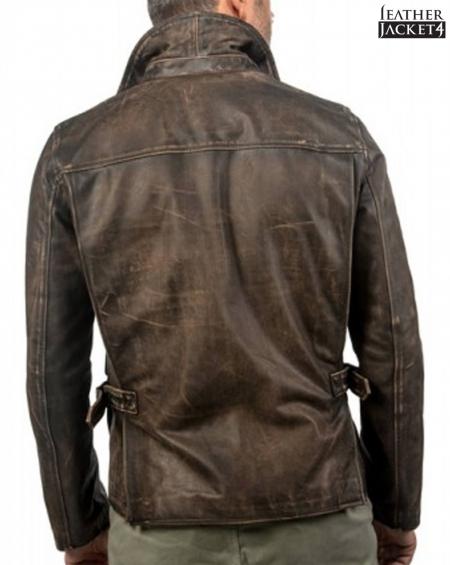 Indiana Jones Vintage Brown Leather Jacket