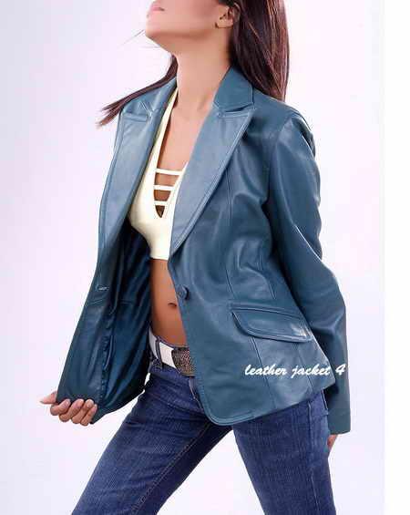 Leather Womens Blazer