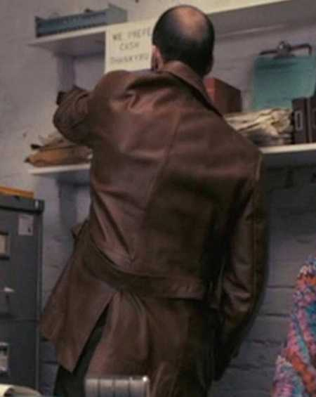 Jason Statham The Bank Job Brown Leather Jacket