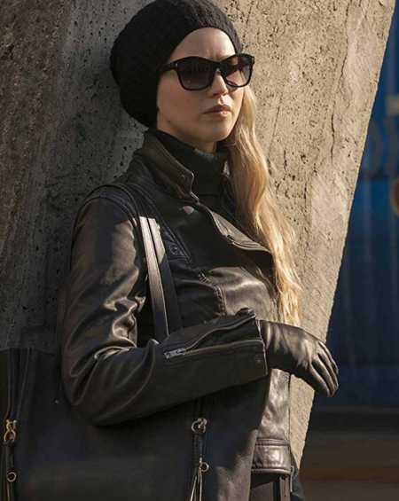 Jennifer Lawrence Red Sparrow Black Leather Jacket
