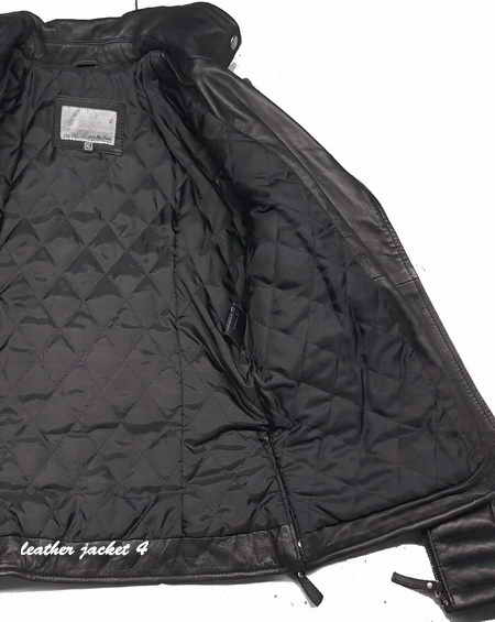 Oily black quilted leather jacket worn by popular celebritie
